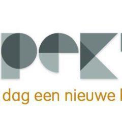 rechthoek met groot logo grijs oranje